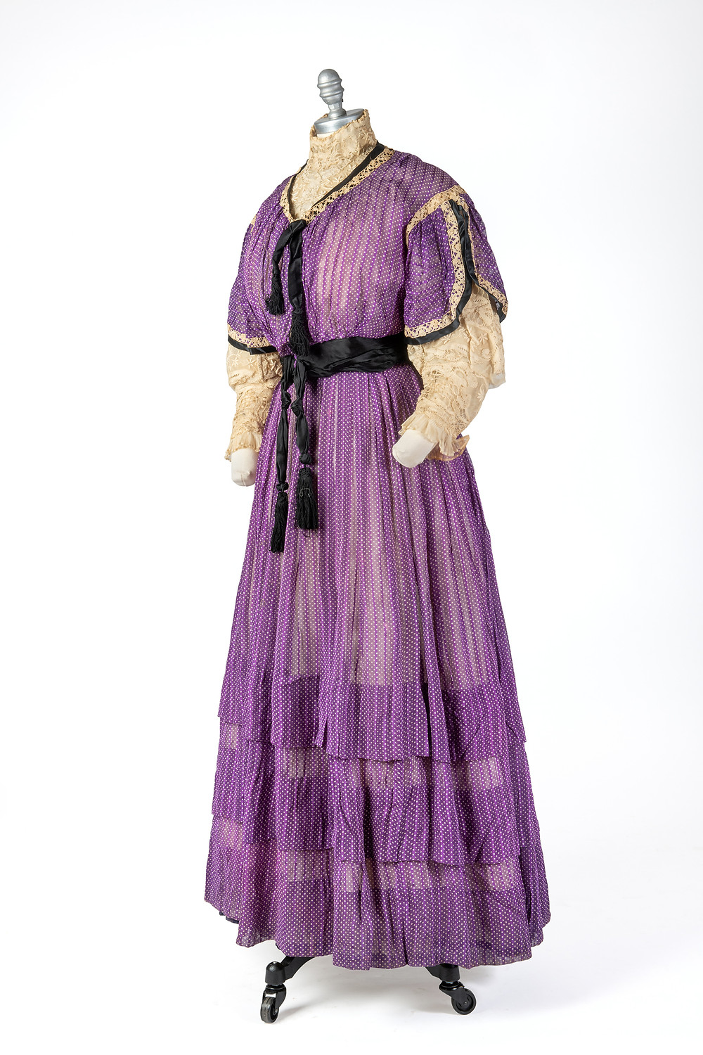 This dress, donated to the Historical Association in 1984, would prove to have a fascinating history behind it.