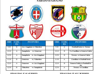 sabato 11/6 si disputa il primo torneo gaggiano next generation sampdoria!!!