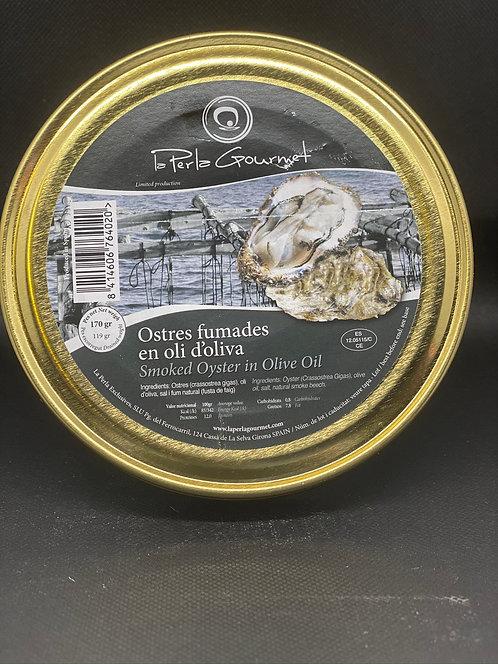 "Ostras ahumadas La Perla Gourmet"" 170 grs."
