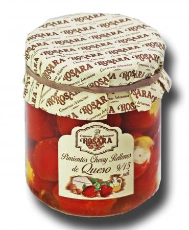 Pimientos cherry rellenos de queso 185 grs. Rosara