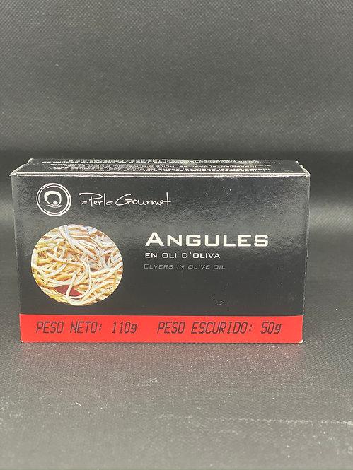 """Angulas en aceite de oliva """"La Perla"""" 110 grs."""