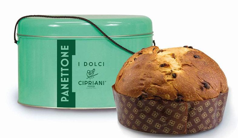 Panettone 1kg Cipriani In latta