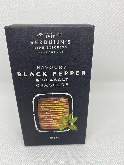 Savoury Black Pepper & Sea Salt Crackers
