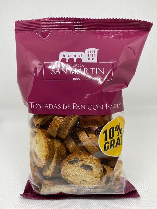 Pan de pasas en bolsa Teresa San Martín 125 grs.
