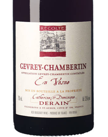 Derain Gevrey-Chambertin En Vosné 2017