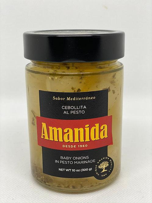 Cebollitas al pesto Amanida frasco 350 grs.