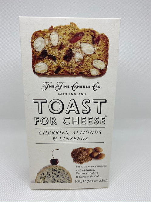 Toast for Cheese. Cherries, Almonds & Linseeds.