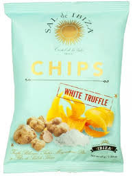 "Patatas Con trufa blanca ""Sal de Ibiza"" 45 grs."