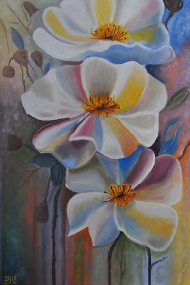 Olej na plátně, 2019, 40x60 cm, podle předlohy