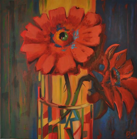 Olej na plátně, 2019, 60x60 cm, podle předlohy