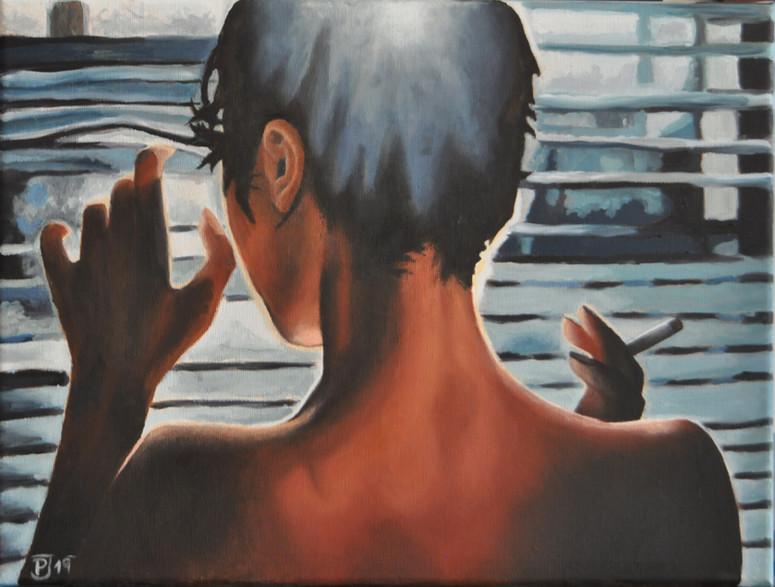 Olej na plátně, 2019, 40x30 cm, podle předlohy; k dispozici