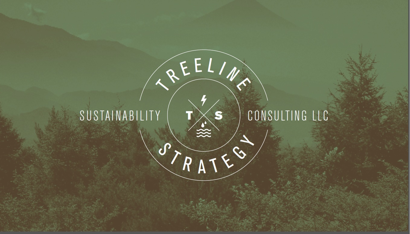 Treeline logo with trees