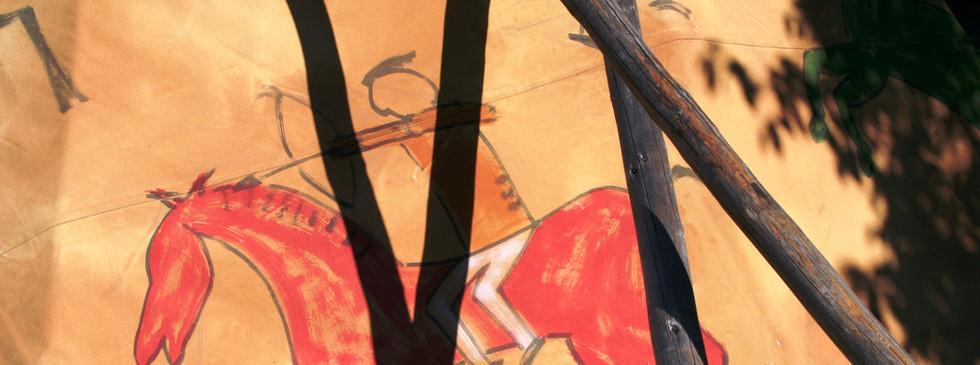 Santa Fe Tepee peint