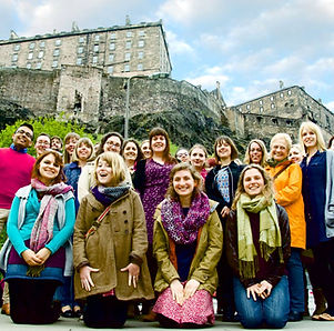 Castle Chorus in front of Edinburh Castle