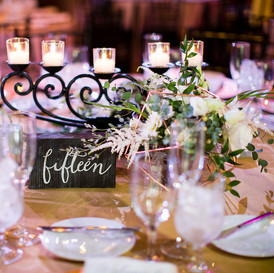 Centerpiece & Table Number