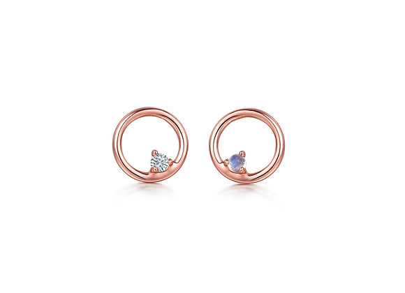 Coral Studs | Rosegold