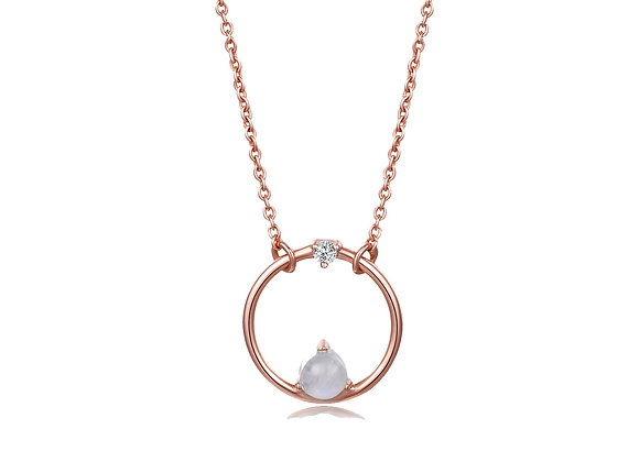 Small Coral Necklace | Rosegold