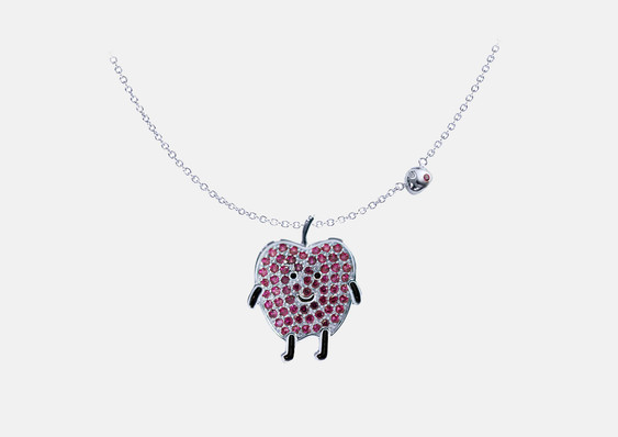Dec 23 2018: The Apple necklace was designed for the wedding of Elanne Kong and Oscar Siu as their bridesmaid gifts.   2018年12月23日: 為江若琳和萧润邦结婚設計給她姐妹團的禮品。