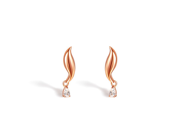 Dolphin Topaz Studs | Rosegold