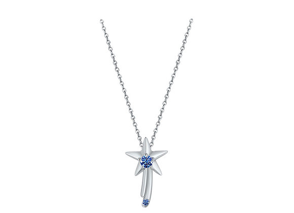 Wishing Star Necklace | Silver Blue
