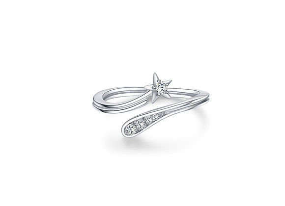 Shooting Star Ring | Silver