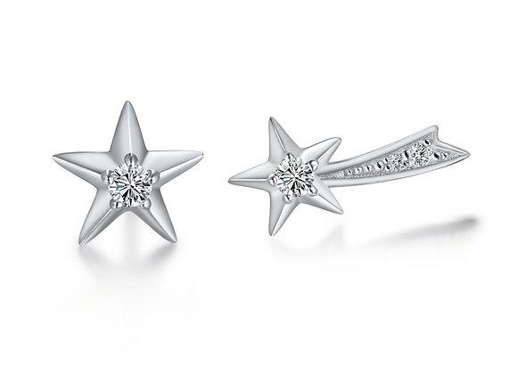 Star + Shooting Star Studs | Silver