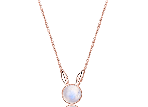 Dream Bunny Necklace   Rosegold
