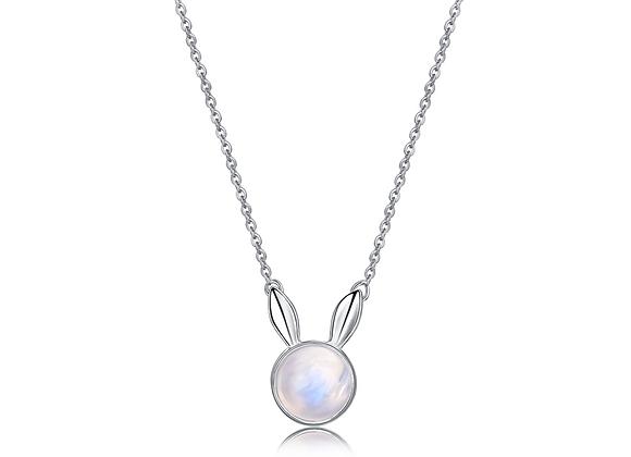 Dream Bunny Necklace | Silver