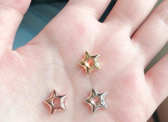 Puffy Star Charm | Gold