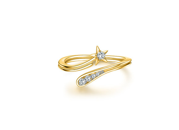 Shooting Star Ring | Gold