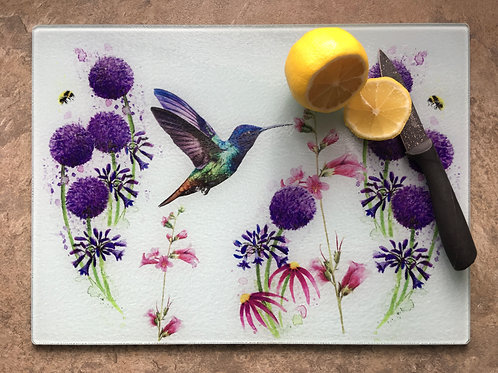'Hummingbird meadow' | Chinchilla chopping board