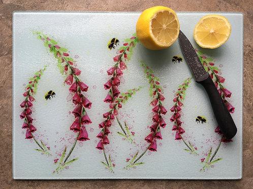 'Foxglove Meadow' | Chinchilla chopping board