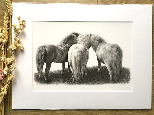 'Horse Whispers' Giclee print