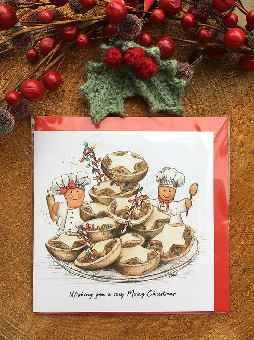 Christmas Card 'Mince Pie Bakers'