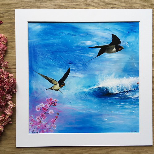 Swallows 'Herald of spring' print