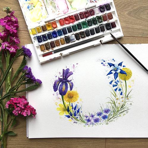 """Iris Meadow"" print"