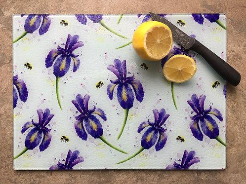 'Iris Meadow' | Chinchilla chopping board