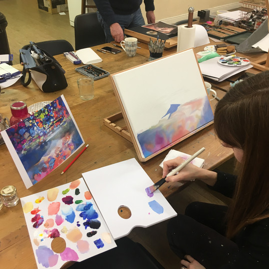 Painting in the style of Scott Naismith