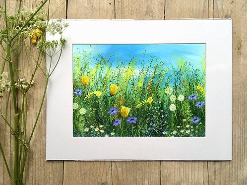 Tulip 'Spring burst meadow' gicleé print