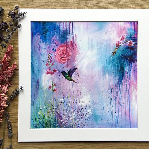 'Hummingbird' print