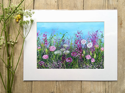 Roses 'Rose meadow' gicleé print