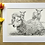 Thumbnail: Sheep original pencil drawing | 'Springtime is here'