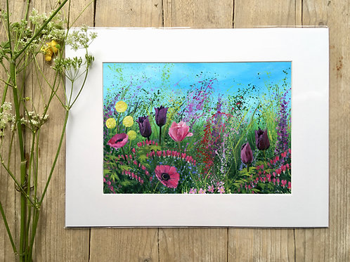 'King of hearts meadow' print