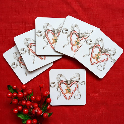 'Candy Love and bow' Single Coaster