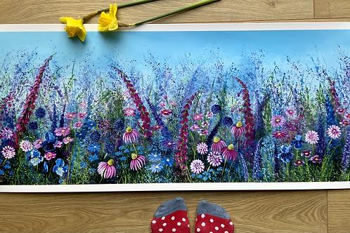 Wild Pink Meadow | Large Print
