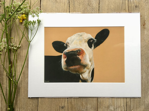 Cow giclee print | Beady eye