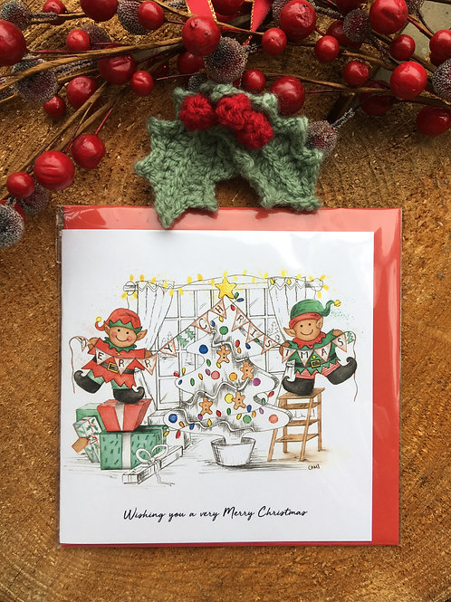 Christmas Card 'Merry Christmas Elves'