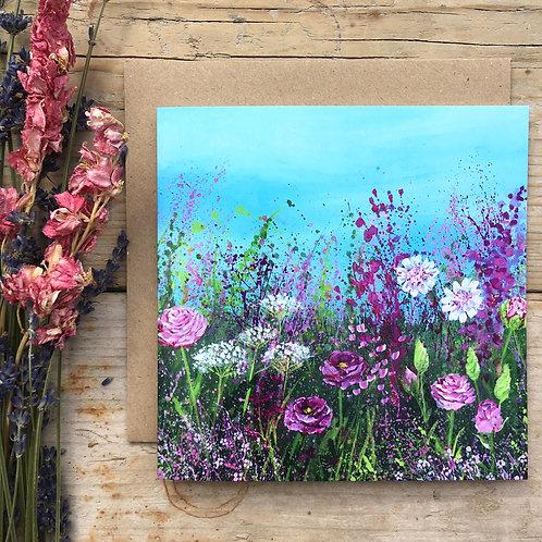 'Rose meadow' greeting card