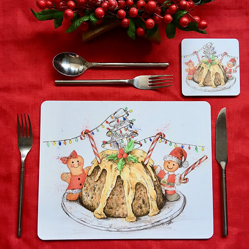 'Christmas Pudding' single placemat