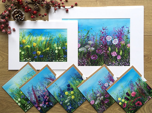 Meadow Prints and Greeting card gift set